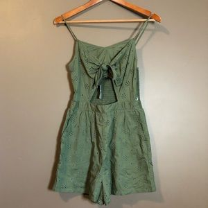 NWT! Aerie olive romper. Lined.